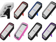 For HTC One VX Cover Hybrid Double Layer Kickstand Case Cell Phone Accessory