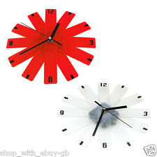NEW FOLDING WALL CLOCK - MODERN COMPACT EXPANDING PLASTIC HOME KITCHEN OFFICE