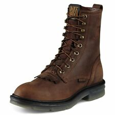 """Ariat Men's Impact II 8"""" Lacer Lace Up Western Work Boots Alamo Brown 10008646"""