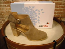 FarylRobin Charm Taupe Leather Cut-out Ankle Bootie NEW