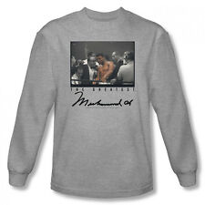 Muhammad Ali Vintage Photo The Greatest Licensed Adult Long Sleeve Shirt S-XXL