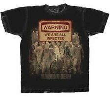 The Walking Dead Warning Sign T-shirt American Zombie Horror Drama TV Series