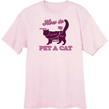 How To Pet A Cat Funny Novelty T Shirt  Z12884