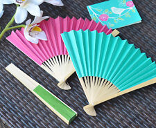 20 Beach Party Summer Wedding Decoration Favors Colored Paper Hand Fans Favors