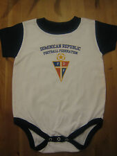 DOMINICAN REPUBLIC Football Federation short sleeve infant Body Suit (Creeper)