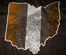 Cleveland Browns Cleveland, Ohio map  t shirt Awesome vintage print