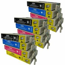 12 CiberDirect Replacements for Epson T1295 Printer Ink Cartridges - VAT Invoice