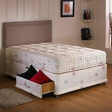 New - Restus Beds Chatsworth 2000 Pocket Sprung Divan Bed Set - Free Delivery