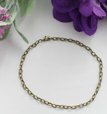 """12PCS Antiqued Bronze 6.9x4.3mm oval link chain necklaces 16"""" 18"""" 20"""" 22""""and 24"""""""
