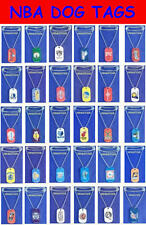 "TWO NEW NBA LICENSED BASKETBALL METAL DOG TAG NECKLACE + FREE 22"" METAL CHAINS"