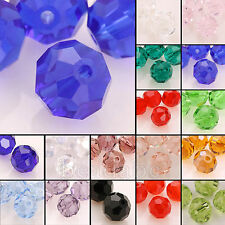 5000 100pcs Round 6mm Austria Crystal Beads Jewelry Charm Loose Beads Pick Color