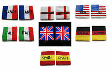 1 pair of fully stretchable New Sweatbands Wristbands union jack six countries