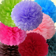 "5 x 20cm Tissue Paper Pom Poms Wedding Party Xmas Home Favor 8"" Colours Decor"