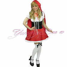 Little Red Riding Hood Fancy Dress Costume Ladies Outfit Size 6 8 10 12 14 16 18