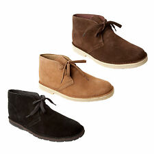NEW MENS CLASSIC SUEDE LACE UP DESERT BOOTS SHOES UK SIZE 6-12