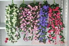 1Pcs*75cm Artificial Silk Flower Vine Wall Hanging Plant Wedding Garden Decors
