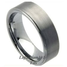 8mm wide Brushed Surface Mens Tungsten Wedding Ring Size 9,10,11,12,13