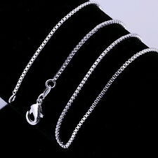 Lowest price wholesale 3PCS solid silver 1MM box chain necklace  DC10
