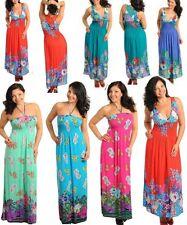 WOMENS LADIES LONG FLORAL PAISLEY MAXI HOLIDAY PLUS SIZE DRESS SIZE 10 -18