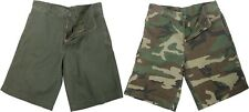 Vintage Flat Front 5 Pocket Military Paratrooper Cargo Shorts