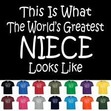 Worlds Greatest NIECE Funny Mothers Day Birthday Christmas Gift T Shirt