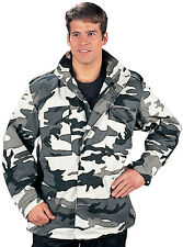 City Camouflage Military M-65 Field Coat Army M65 Jacket