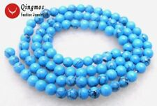 "SALE Tiny 4-4.5mm Blue Round Stripe TURQUOISE beads strand 15""-los531 Free ship"