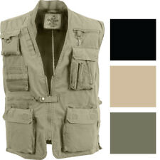 Deluxe Multi-Pocket Safari Outback Hunting Travel Vest