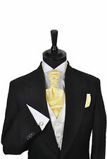 Men's & Boy's Wedding Formal Cravat In Shades of Yellow