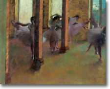 HUGE Degas Dancers Practicing in Foyer Stretched Canvas Giclee Repro ALL SIZES