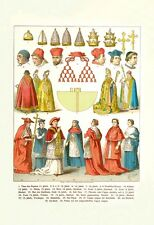 """French Clergy Headwear And Vestments"" Print [ID 608688]"