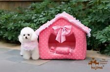 KOJIMA Prince & Princess Soft Warm Pet House Bed Kennel for Small-Medium Dog Cat