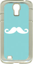 Baby Blue Mustaches on Samsung Galaxy S4 Hard or Rubber Case