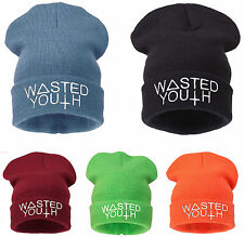 Winter WASTED YOUTH BEANIE HAT CAP BAD HAIR HATS WOOLLY SNAP BACK 1994 NY CAP