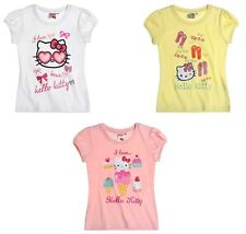 New Girls Hello Kitty T Shirt Top  Hello Kitty T-shirt  Age 3-10 Years