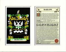 BAGNELL to BARNARD Family Coat of Arms Crest + History - Mount or Framed