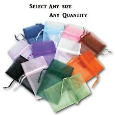 LOTS 12~84~144 Pcs ORGANZA POUCHES JEWELRY GIFT POUCH WHOLESALE POUCHES ASSORTED