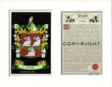 ROWE to SAVILLE Family Coat of Arms Crest + History - Mount or Framed