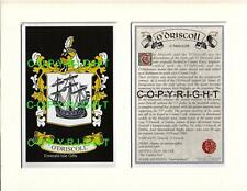 O'CALLAHAN to O'GRADY Family Coat of Arms Crest + History - Mount or Framed