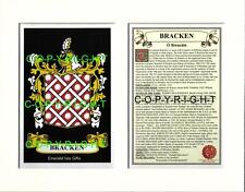 BRACKEN to BRIDGES - Your Family Coat of Arms Crest & History