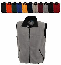 MEN'S HEAVYWEIGHT, FLEECE VEST, POCKETS, 11 COLORS! XS-4X 5X 6X & TALL, LT-6LXT