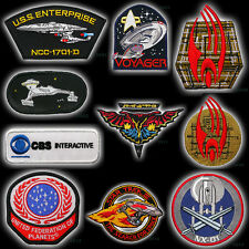 STAR TREK Classic TV / MOVIES Embroidered Patches Iron-On / Sew-On Patch Series