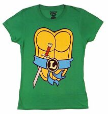 Teenage Mutant Ninja Turtles Leo Leonardo Costume Licensed Junior Shirt S-XL