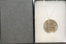 British Sixpence Pendant on Sterling Silver Chain Choice of Date 1947 to 1967