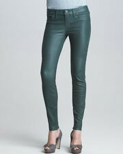 AUTH $750 True Religion Women Casey Stretch Leather Pant Green