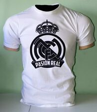 Real Madrid de Espana Spain Futbol Soccer Football T shirt Camiseta  Pasion Real