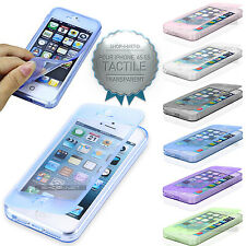 Coque Case étui housse gel souple silicone rabat Compatible IPhone 4 4S 5 5S