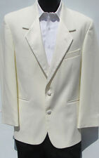 Ivory/Off-White Two Button Tuxedo/Dinner Jacket & Pants Wedding Prom Cruise 37L