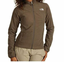 The North Face Womens Windwall 1 Jacket Fleece Coat Brown NEW