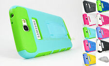 Samsung Galaxy Note II 2 Hybrid Frame Stand Dual Layer Case Cover Phone +PryTool
